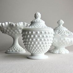 I would display a hobnail milk glass collection- starting with my grandmother's and mom's pieces.