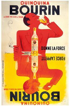 Quinquina Bourin Lámina giclée por Jacques Bellenger en AllPosters.es