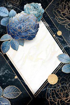 Blank floral golden rhombus frame vector | premium image by rawpixel.com / Adj Flower Background Wallpaper, Framed Wallpaper, Pastel Wallpaper, Flower Backgrounds, Background Patterns, Wallpaper Backgrounds, Wallpapers, Golden Background, Iphone Wallpaper