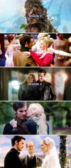 Emma and Killian through the seasons