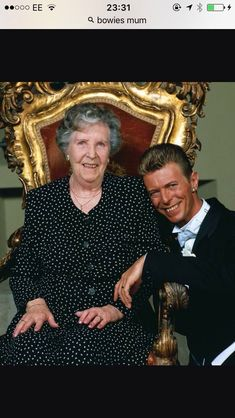 David Bowie with his Mum. #DavidCopperfield