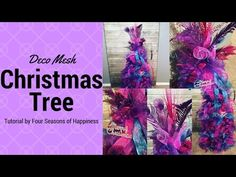 Ribbon Style Deco Mesh Christmas Tree PART 1 - Four Seasons Of Happiness