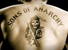 """Sons Of Anarchy"" on FX --- If Jax's super-sexy back tattoo isn't enough to get you watching, you're either a straight man, a gay woman, or dead. Oh, how I love ""Sons Of Anarchy!"""