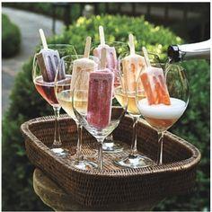 Picolés na champagne para o Chá de Panela