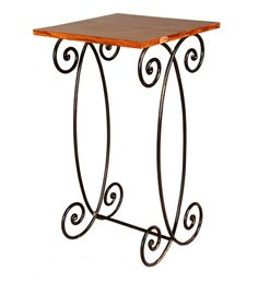 Sheesham Wood and Iron Side Table | Tables | Console Tables | Pepperfry Product