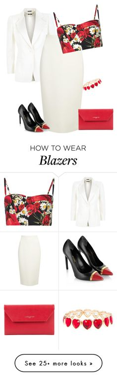 """outfit3404"" by natalyag on Polyvore featuring Alexander McQueen, Donna Karan, Dolce&Gabbana, Yves Saint Laurent, Lancaster, claire's, women's clothing, women, female and woman"