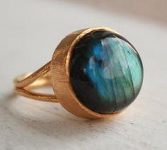 Midnight Blue Labradorite Ring