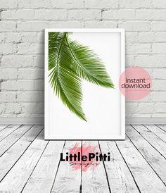 Palm leaves leaf decor green decor california print by LittlePitti