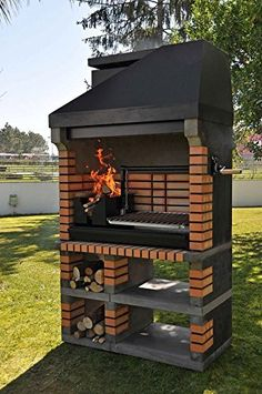 Pan American Brick Masonry BBQ Grill - The Ultimate in Wood fired BBQ Grilling: Amazon.co.uk: Garden & Outdoors
