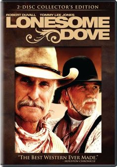 """Great miniseries adaptation of Larry McMurtry's novel. Casting is fantastic (Robert Duvall, Tommy Lee Jones, Anjelica Huston, etc) & the chemistry between Duvall and Jones  is super engaging. The plot revolves around Gus and Call's last adventure: a 2,500 mile cattle drive from Texas to Montana. Amazon says: """"In the age of revisionist Westerns, this excellent cattle-drive drama nicely maintains an old fashioned feeling while still showing the dark side of the American West."""" Love it. -Veronica"""