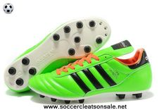 Cheap Football Boots Green Black White 2014 Brazil World Cup Adidas Copa Mundial FG Soccer Shoes On Sale