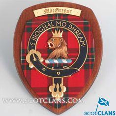 MacGregor Large Clan Crest Plaque