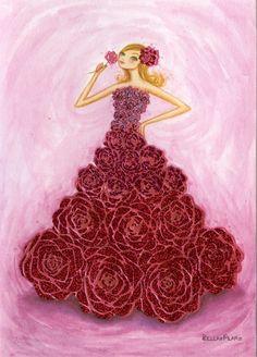 rose dress Bella Pilar