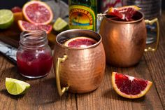 Blood Orange Mule uses the finest of the season's produce. Delicious.