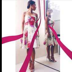Rochelle Pangilinan in a floral dress by Mariane Perez