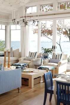 Sarah Richardson Design - Sarah's Cottage/Summer House (Style at Home July Cottage Chic, Cottage Living, Coastal Cottage, Cottage Style, Home And Living, Coastal Style, Coastal Decor, Lake Cottage, Country Living