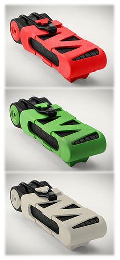 FoldyLock - Folding Locks for Bikes, Compact, Flexible and Smart.