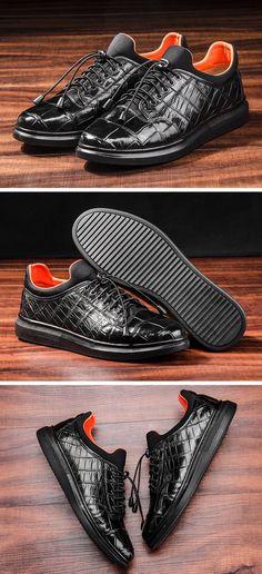 Fashion Alligator Sneakers, Luxury Alligator Sneakers for Men