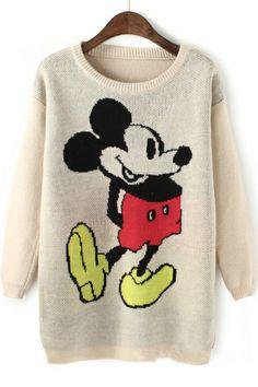 Lovely Long Cartoon Sweater OASAP.com
