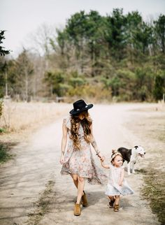 A Mother Daughter Photoshoot and Boho Braid Tutorial - Inspired by This
