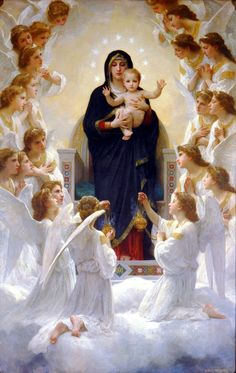 William-Adolphe Bouguereau - The Virgin with Angels (1900)