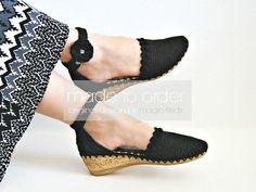 Sandalias de cuña de Eleni versión 2 mujeres crochet