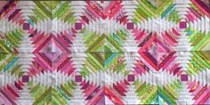 A Little Bit Biased-paper pieced Pineapple Block-love this and would like to try to make it