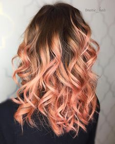 "361 Likes, 4 Comments - Hairstylist Londonderry, NH (@tmarie_hair) on Instagram: ""Peachy rose gold on this beauty today using all @pulpriothair!!#behindthechair…"""