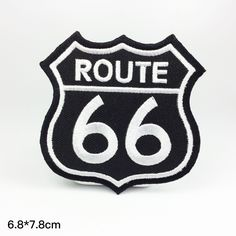66 route 66 embroidery patch Embroidery patches patch Embroidered patch iron on patch sew on patch  A140