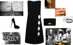 """Night in the city!"" by sissai ❤ liked on Polyvore"