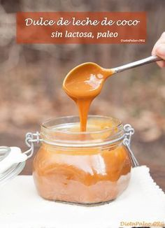 Receta de como preparar dulce de leche de coco sin lactosa y paleo. Delicioso y libre de azucar refinado.
