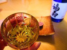 edokiriko with sake