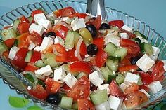 Griechischer Bauernsalat - My list of the most healthy food recipes Ketogenic Recipes, Keto Recipes, Snack Recipes, Healthy Recipes, Smoothie Recipes, Salad Recipes, Cottage Cheese Salad, Greek Recipes, Caprese Salad