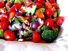 "Marinated Vegetable Salad: ""Made as posted -- marinated overnight making for a very flavorful salad. Looks wonderful in a glass serving bowl and very impressive on the table."" -Gerry"