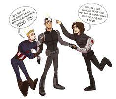 Captain America, Shiro and Bucky (not mine)
