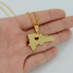 Map Of Dominican Republic Necklace
