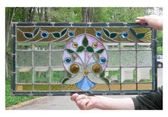 Sharing is caring!  G14024 - Antique Late Victorian Stained and Beveled Window #https://www.pinterest.com/munlimited/