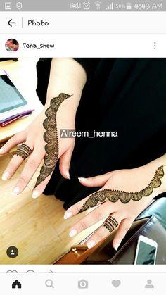 Henna Tattoo Designs Simple, Simple Arabic Mehndi Designs, Back Hand Mehndi Designs, Henna Art Designs, Mehndi Design Pictures, Modern Mehndi Designs, Mehndi Designs For Girls, Mehndi Designs For Beginners, Latest Mehndi Designs