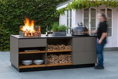Outdoor Kitchen Grill, Outdoor Barbeque, Outdoor Dining Set, Outdoor Kitchen Design, Outdoor Areas, Outdoor Rooms, Outdoor Living, Outdoor Decor, Patio Chico