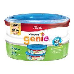 Playtex Diaper Genie Pail Refill, 270 count 2 ea 2pk