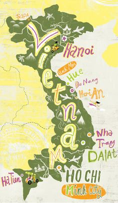 Vietnam by Migy Blanco #map #vietnam