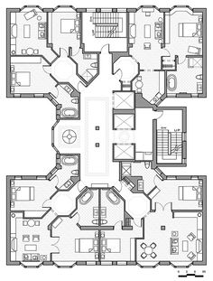 hotel suite floor plans | Drafting - Rachel Hinz