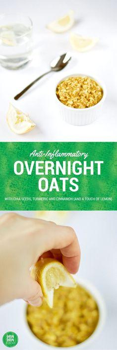Anti-Inflammatory Overnight Oats with Chia Seeds