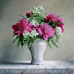 Purchase paintings from Pieter Wagemans. All Pieter Wagemans paintings are ready to ship within 3 - 4 business days and include a money-back guarantee. Art Floral, Deco Floral, Flower Vases, Flower Art, Flower Arrangements, Framed Prints, Canvas Prints, Art Prints, Canvas Art