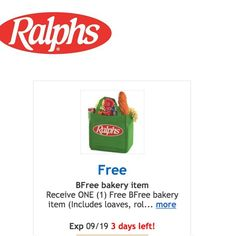 ralphs friday freebie 9/16 - TGIF - http://couponsdowork.com/freebies-giveaways/ralphs-friday-freebie-916/