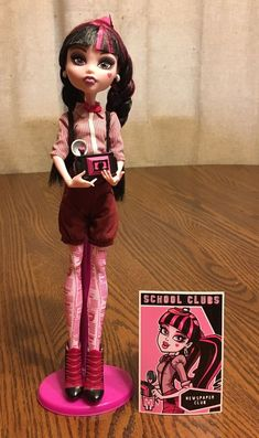 Monster High Draculaura Newspaper Club Fashion Pack Outfit & Doll Complete HTF #Mattel #DollswithClothingAccessories