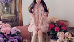 Garden Crop Bowknot Cuff Mini Floral Dress