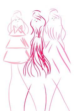 Pink Ladies #fashion #fashionillustration #bybc