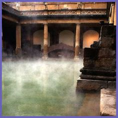 Roman baths at Bath, England.