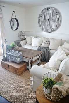 Home Decor Art 25 Rustic Farmhouse Living Room Dcor Ideas For Your House.Home Decor Art 25 Rustic Farmhouse Living Room Dcor Ideas For Your House Shabby Chic Living Room, Shabby Chic Homes, My Living Room, Shabby Chic Furniture, Living Room Decor, Small Living, Cozy Living, Modern Living, Ikea Living Room Furniture